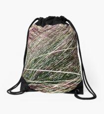 Purple Grasses Majesty Drawstring Bag