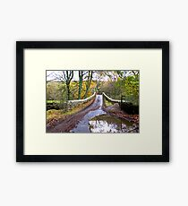 Bridge Approach Framed Print