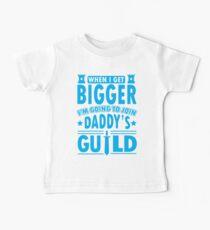 Camiseta para bebés Cuando crezca, me uniré al gremio de papá