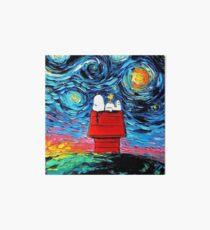 Starry night snoopy Art Board