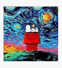 Starry night snoopy Photographic Print