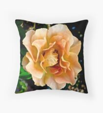Orange You Glad You Stopped to Smell the Roses Throw Pillow