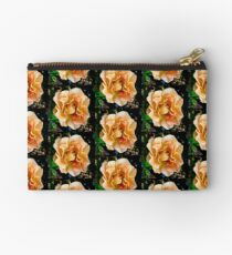 Orange You Glad You Stopped to Smell the Roses Zipper Pouch