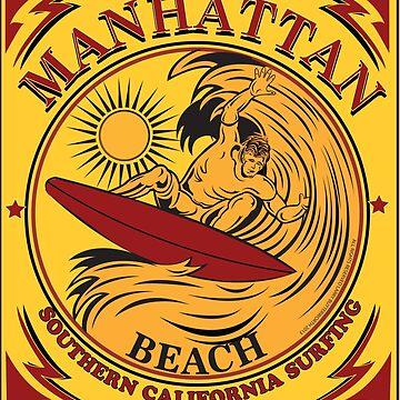 MANHATTAN BEACH CALIFORNIA SURFING by theoatman