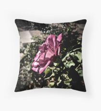 Rose in Profile Throw Pillow