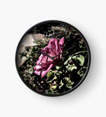 Rose in Profile Clock