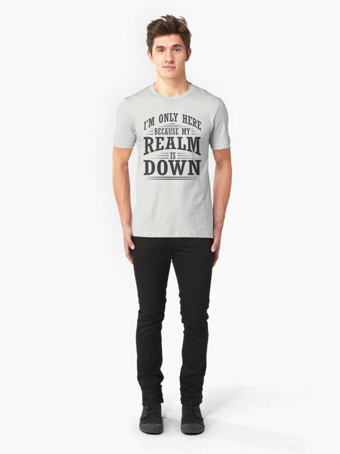 Vista alternativa de Camiseta ajustada Solo estoy aquí porque mi reino está abajo