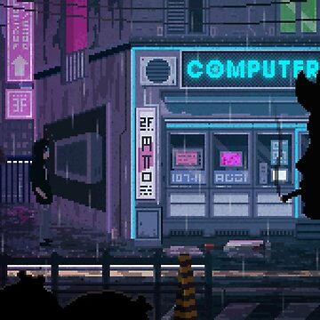 Pixel rain by FLance