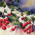 Berries in the Snow  by artbyrachel