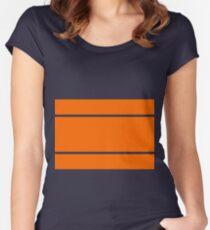 Three stripe - orange Women's Fitted Scoop T-Shirt