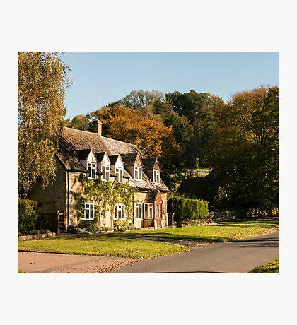 Autumn village. Photographic Print