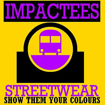 IMPACTEES STREETWEAR TRAIN LOGO PURPLE 2 by IMPACTEES