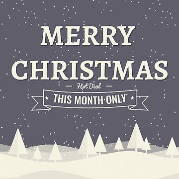Christmas Background Illustration with Typography by tato69