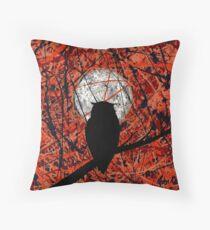 THE VIGIL (owl & moon) ~  Throw Pillow