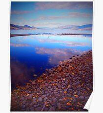 Okanagan Lake Before Work on a Sunny Saturday Morning Poster