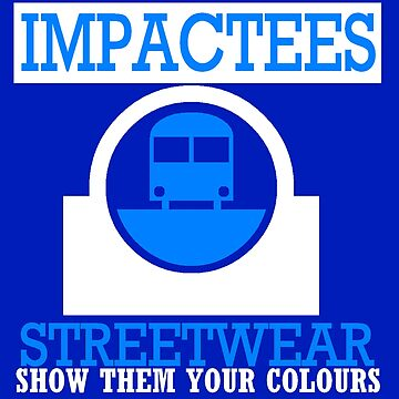 IMPACTEES STREETWEAR TRAIN LOGO BLUE by IMPACTEES