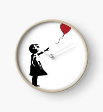 Banksy - Mädchen mit Ballon Uhr