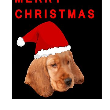 Cocker Spaniel Merry Christmas Design by troy1969
