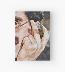 Groucho Marx digital painting Hardcover Journal