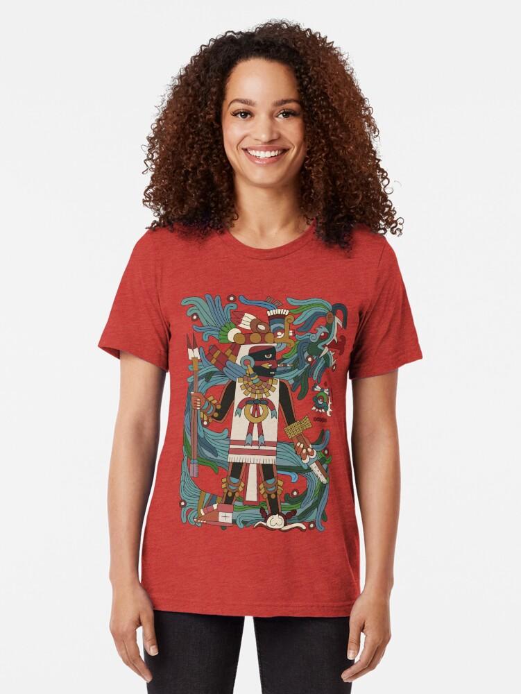 Alternate view of Tezcatlipoca II Tri-blend T-Shirt