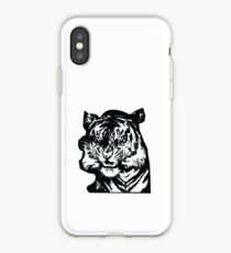 Tiger_BW iPhone Case