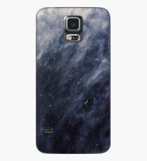 Blaue Wolken, blauer Mond Hülle & Klebefolie für Samsung Galaxy
