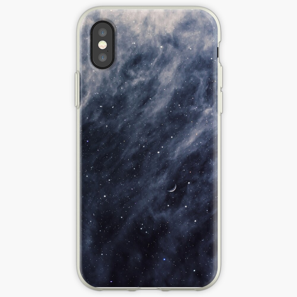 Blue Clouds, Blue Moon iPhone Cases & Covers
