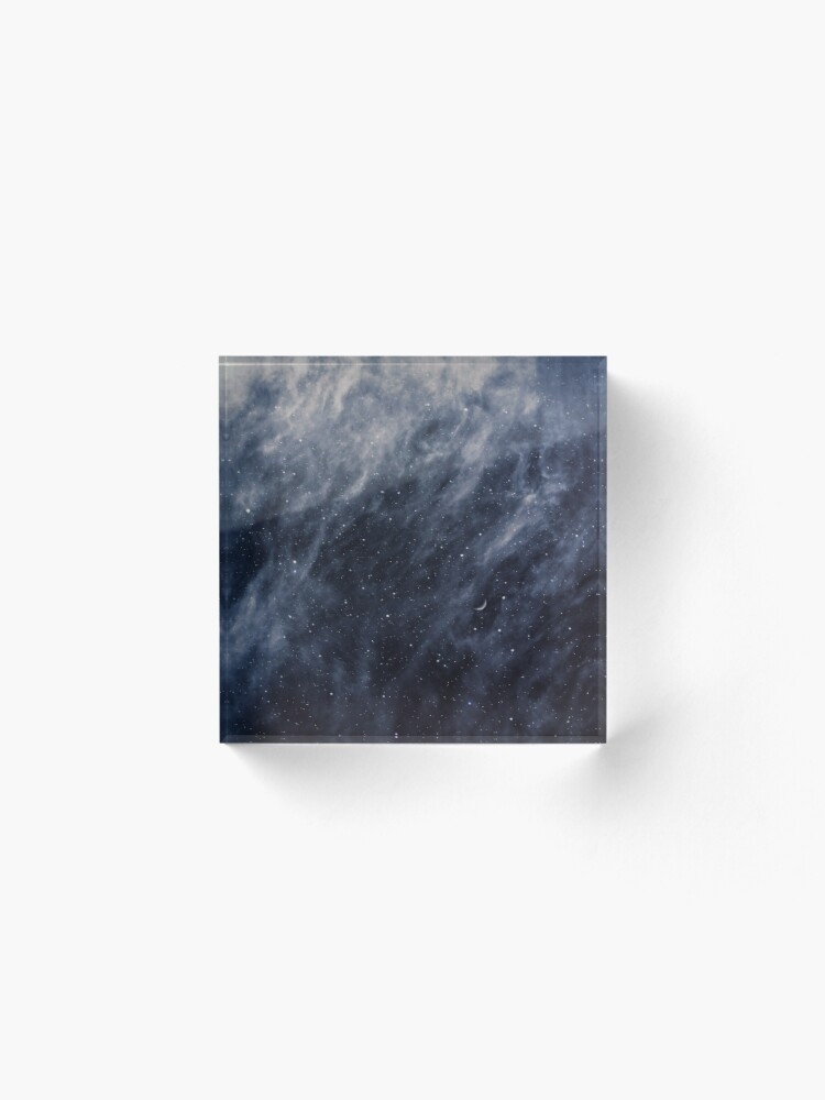 Alternate view of Blue Clouds, Blue Moon Acrylic Block