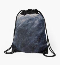 Blue Clouds, Blue Moon Drawstring Bag