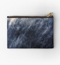 Blue Clouds, Blue Moon Zipper Pouch