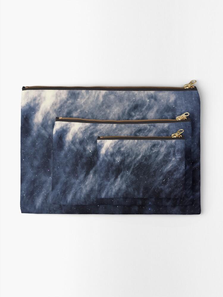 Alternate view of Blue Clouds, Blue Moon Zipper Pouch