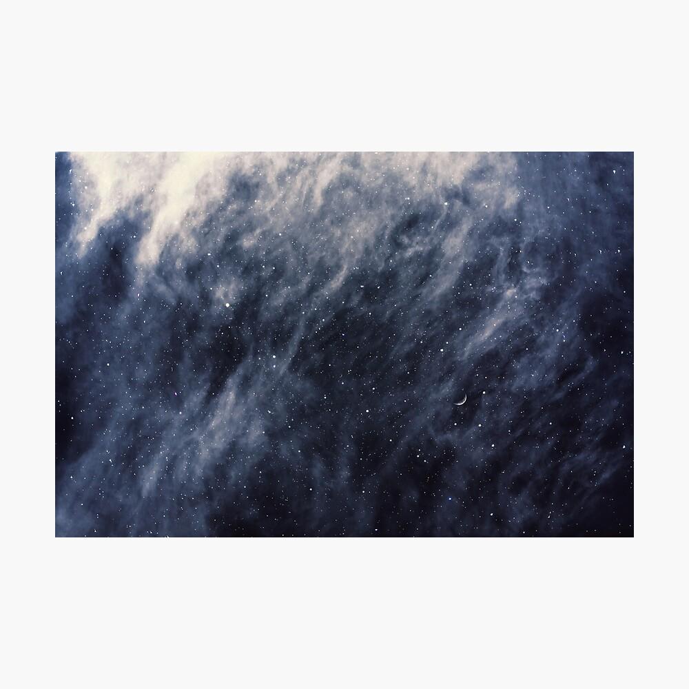Blue Clouds, Blue Moon Photographic Print