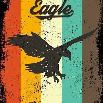 Eagle Retro 70s Vintage Bird Lover Gift by cgocgy