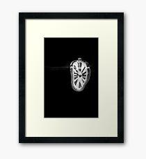 Salvador Dali Inspired Melting Clock Framed Print