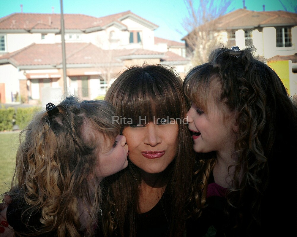Me and the twin Darlings  Models !!! by Rita  H. Ireland