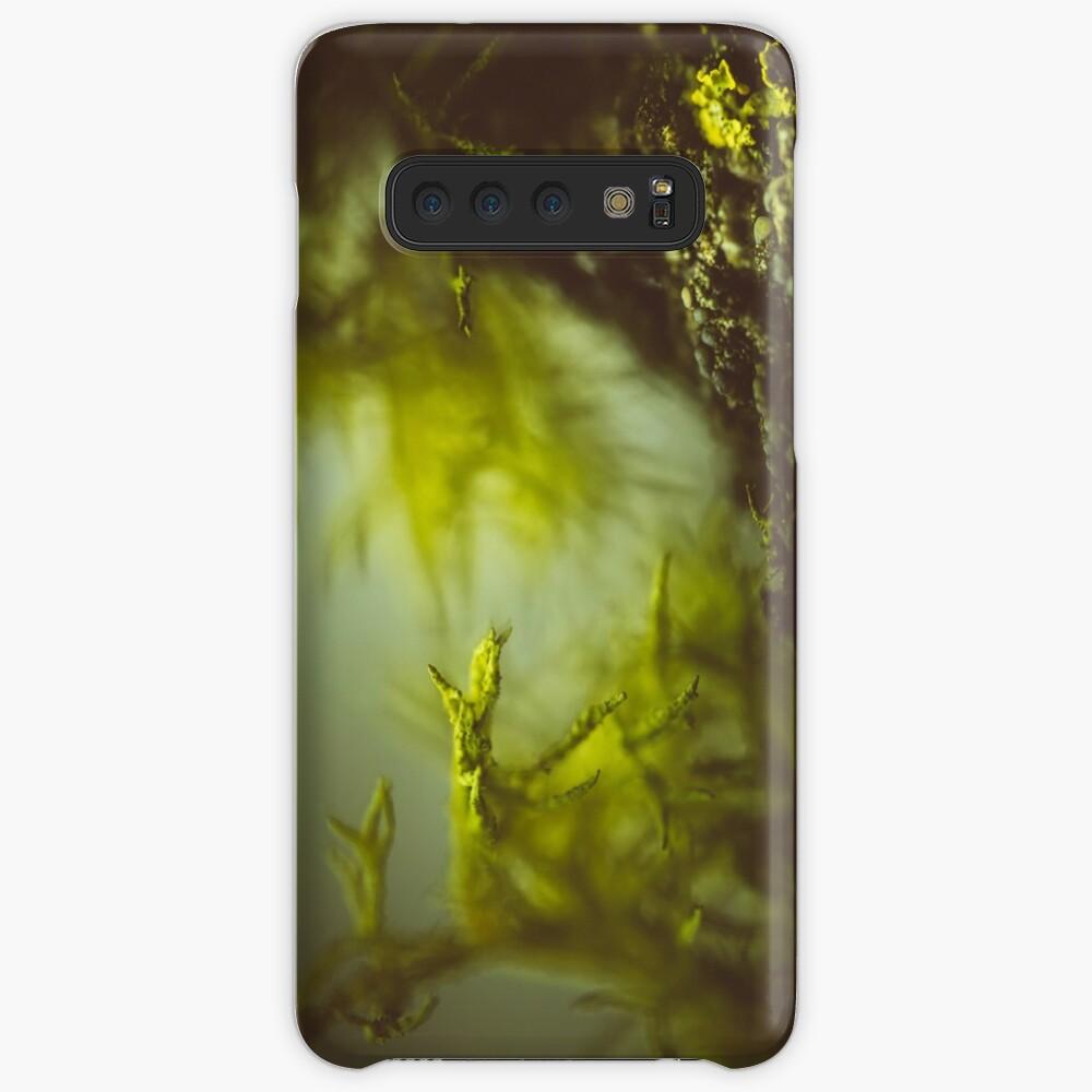 Lichen (moss) in a fog Hülle & Klebefolie für Samsung Galaxy