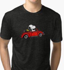 snoopy car Tri-blend T-Shirt