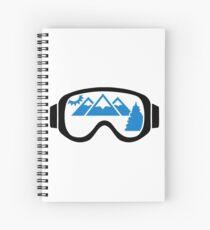 Ski goggles mountains Spiral Notebook