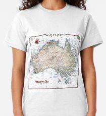 Australia Pictorial Decorative Map Classic T-Shirt