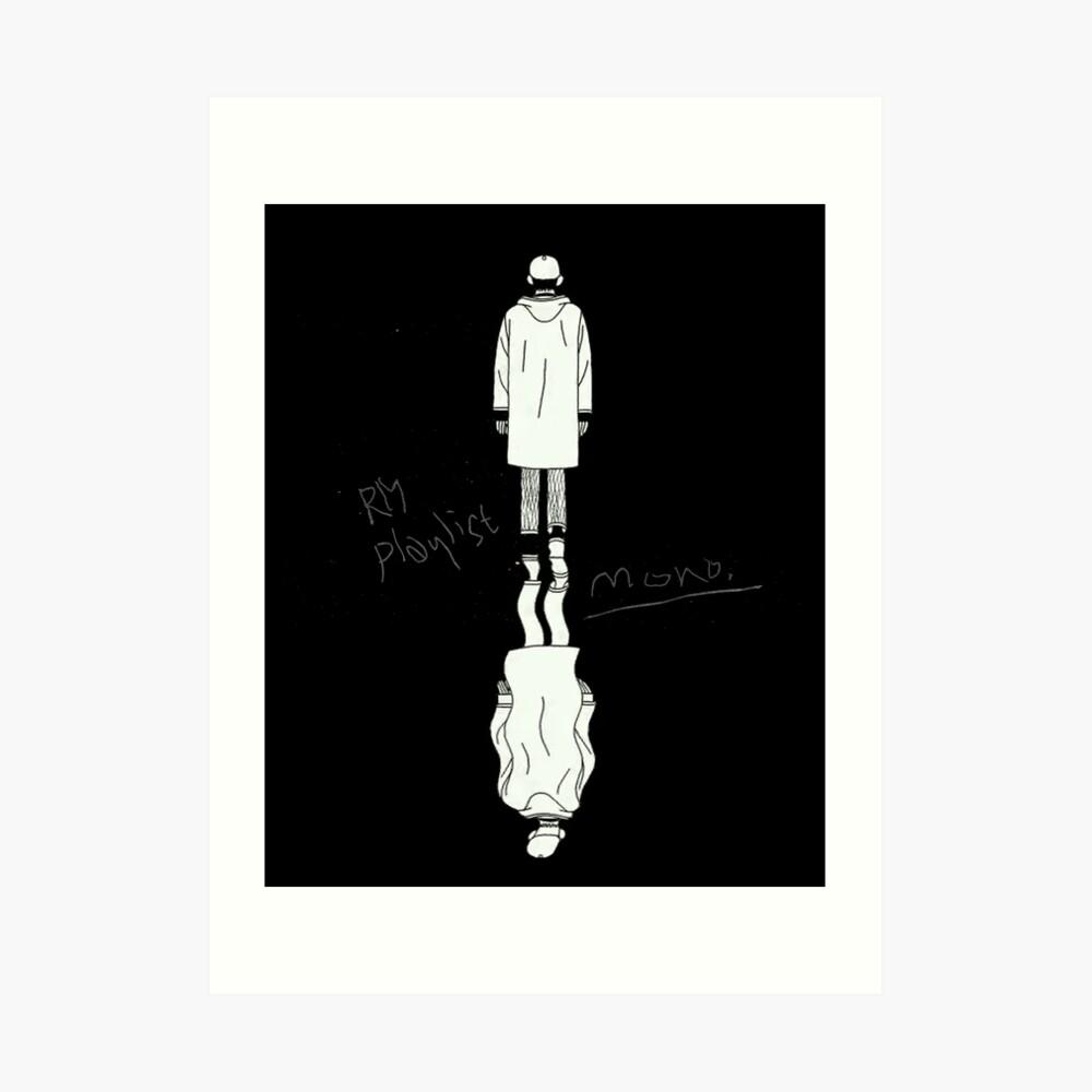 BTS - RM MONO REFLECTION Art Print