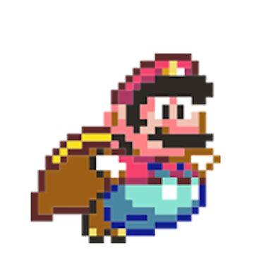 Mario flying by joshuanaaa