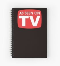 As seen on TV red sign Spiral Notebook
