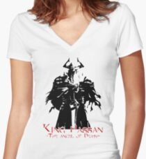 King Hassan - Angel of death Women's Fitted V-Neck T-Shirt