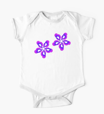 Spiral Pink Blue Abstract Flowers Kids Clothes