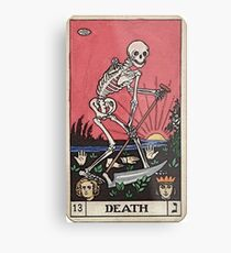 Death Tarot Metal Print