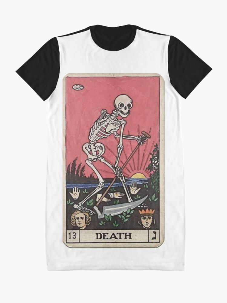 Vista alternativa de Vestido camiseta Tarot de muerte