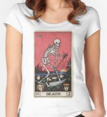 Death Tarot Women's Fitted Scoop T-Shirt