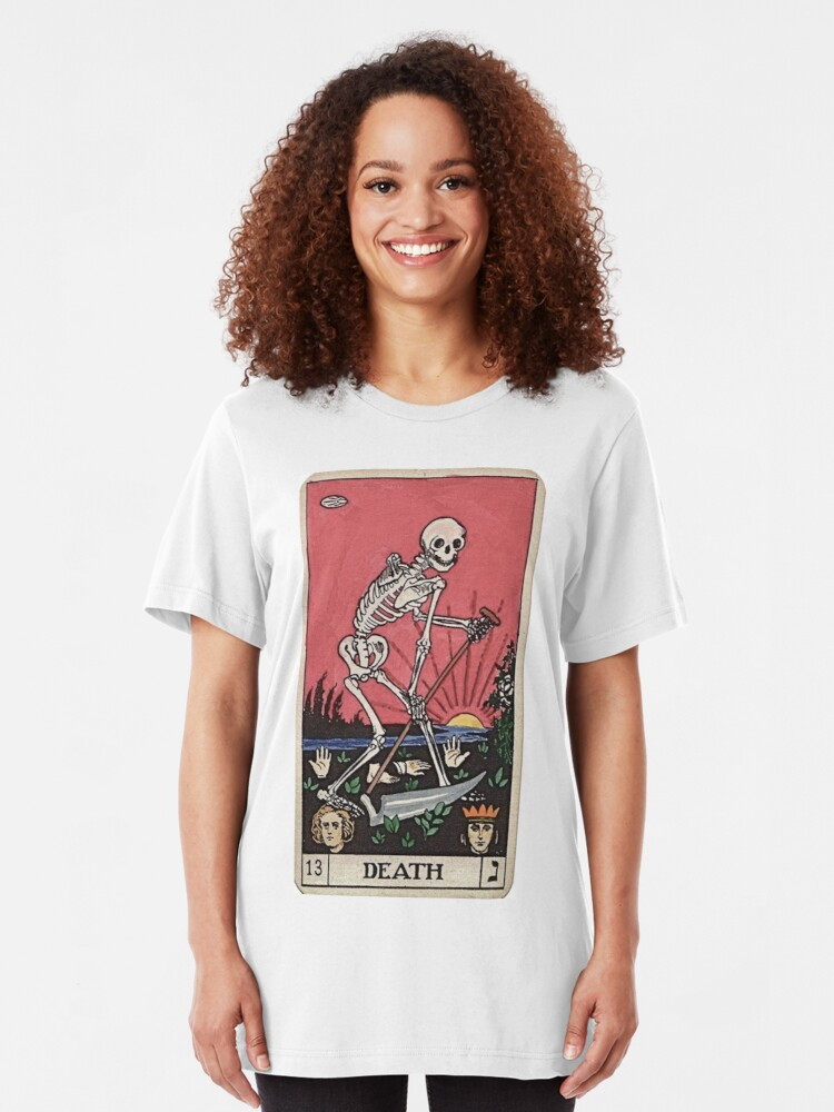 Alternative Ansicht von Todes Tarot Slim Fit T-Shirt