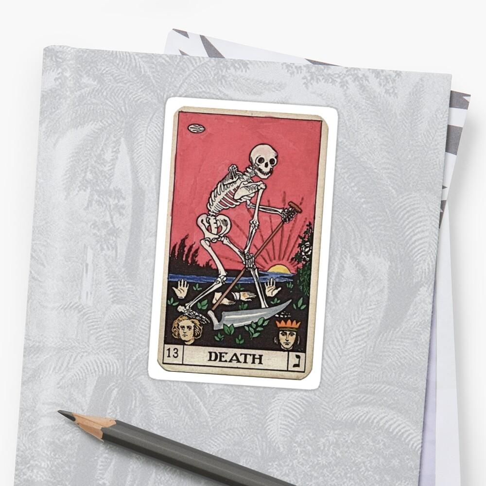 Todes Tarot Sticker Vorne
