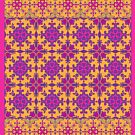 azulejo print - fuschia by raineofiris